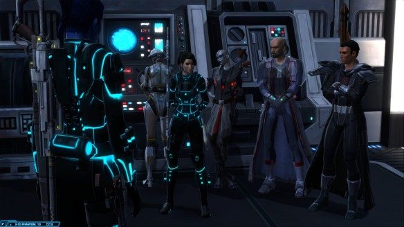 My Imperial agent's team of companions in Star Wars: The Old Republic