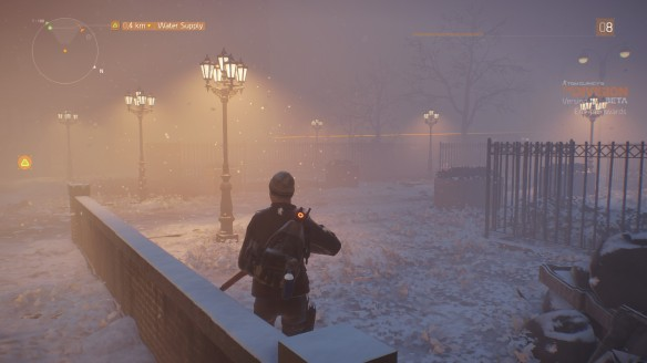 A snowstorm in The Division's open beta