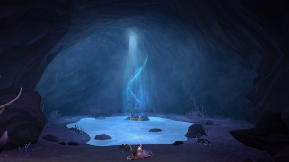 A shaman's cave in World of Warcraft: Warlords of Draenor