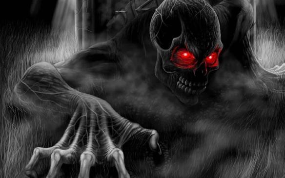 A piece of horror-themed artwork