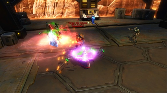 A tactical flashpoint with two tanks in Star Wars: The Old Republic