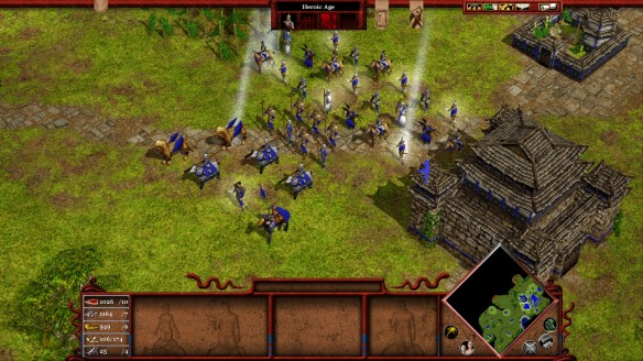 A Chinese army in Age of Mythology: Tale of the Dragon