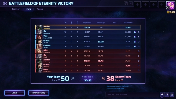A strong performance as Abathur in Heroes of the Storm