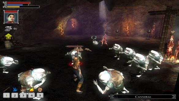 Battling cannibals in Jade Empire