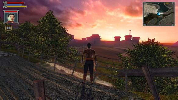 The town of Tien's Landing in Jade Empire