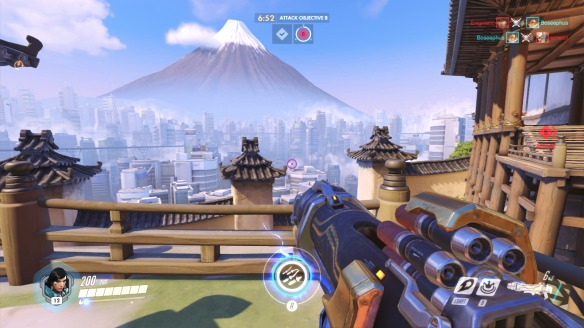 The skyline of Overwatch's Hanamura map