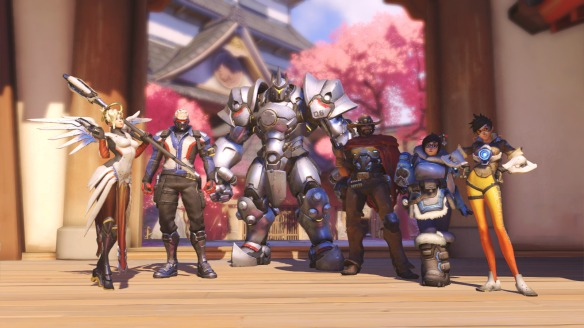 My winning team in Overwatch