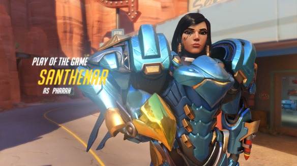 I somehow earn Play of the Game as Pharah in Overwatch