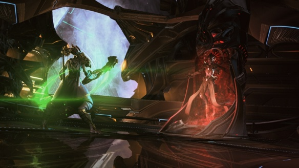 Vorazun confronts Rohana in StarCraft II: Legacy of the Void