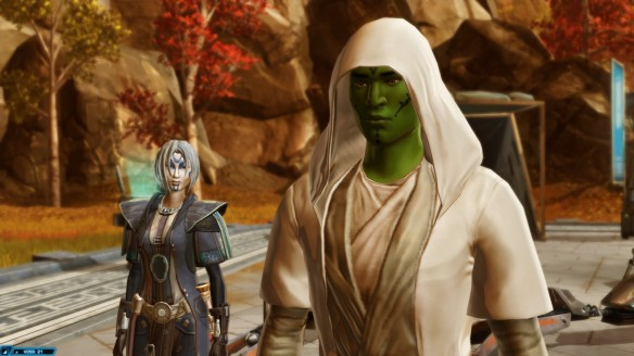 My Jedi consular and Nadia Grell in Star Wars: The Old Republic