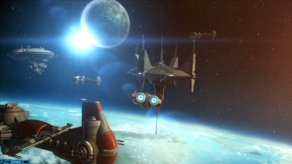 The Republic fleet in Star Wars: The Old Republic