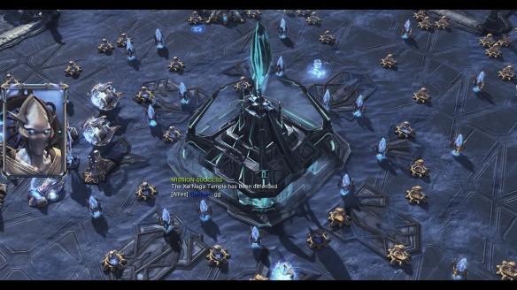 Victory in StarCraft II's Temple of the Past co-op mission