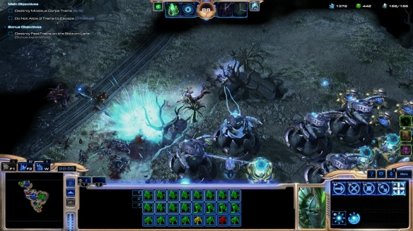 A mutator mission in StarCraft II's co-op