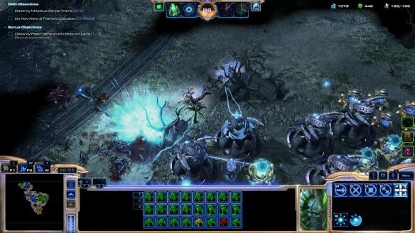 A mutator mission in StarCraft II's co-op