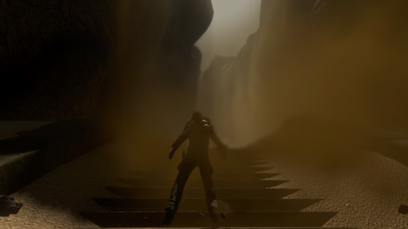 A windswept Egyptian canyon in The Secret World