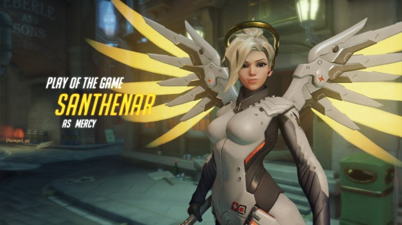 I somehow earn Play of the Game as Mercy in Overwatch