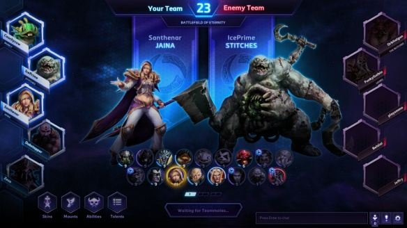 Drafting heroes in ranked play in Heroes of the Storm