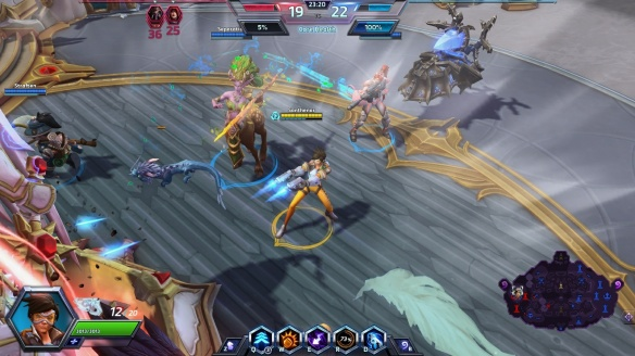 Taking down the enemy core as Tracer in Heroes of the Storm