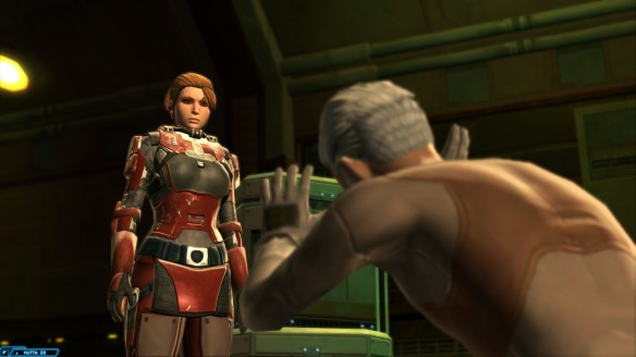"My bounter hunter ""bargaining"" in Star Wars: The Old Republic"