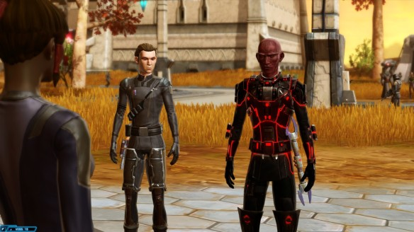 My Sith inquisitor and Talos Drelik in Star Wars: The Old Republic
