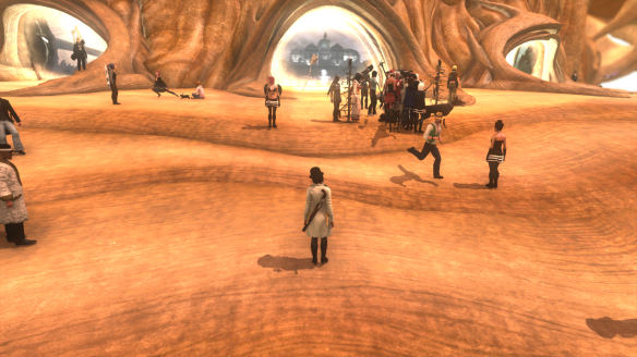 The holiday hug pile in The Secret World