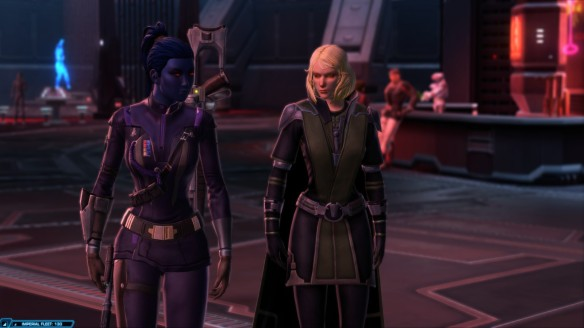 My Imperial agent and Lana Beniko in Star Wars: The Old Republic's Shadow of Revan expansion