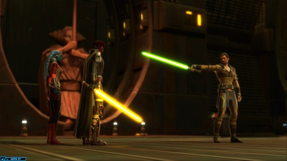 Confronting a Jedi master in Star Wars: The Old Republic