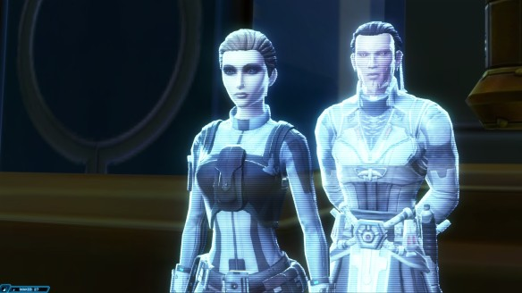 Katha Niar and Lord Cytharat in Star Wars: The Old Republic's Rise of the Hutt Cartel expansion