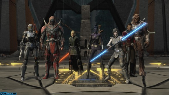 My agent and her allies prepare to battle Revan in Star Wars: The Old Republic