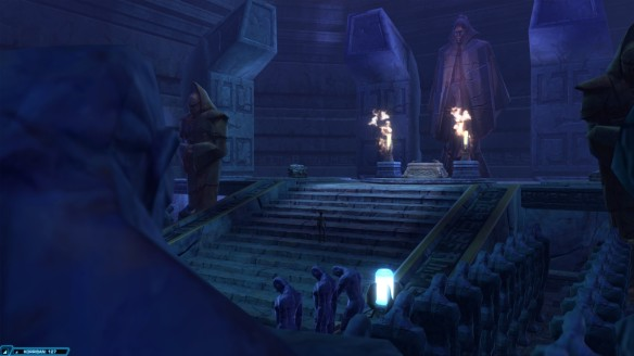 My Sith warrior explores an ancient tomb in Star Wars: The Old Republic