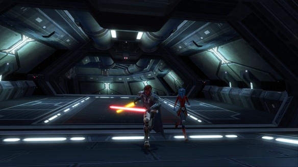 My Sith warrior and Vette in Star Wars: The Old Republic