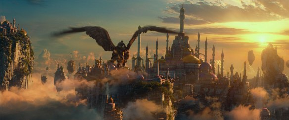 The city of Dalaran in the Warcraft movie