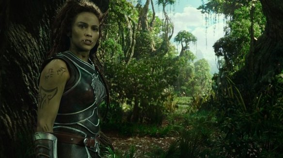 Paula Patton as Garona Halforcen in the Warcraft movie