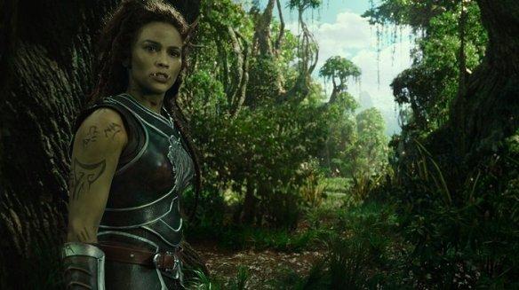 Paula Patton as Garona Halforcen in the Warcraft movie