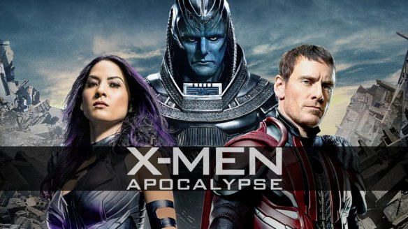 Apocalypse, Psylocke, and Magneto in X-Men: Apocalypse
