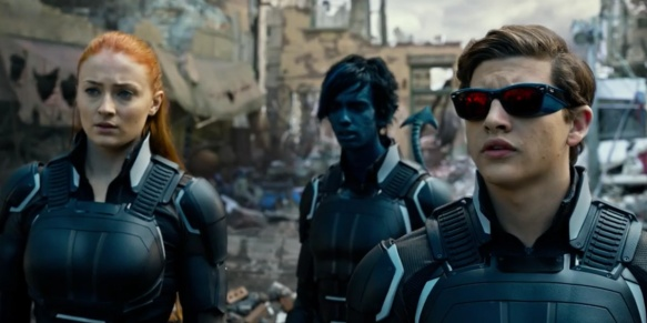 Jean Grey, Nightcrawler, and Cyclops in X-Men: Apocalypse