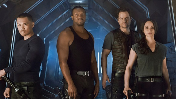Left to right: Alex Mallari Jr. (Four), Roger Cross (Six), Anthony Lemke (Three), and Melissa O'Neill (Two)