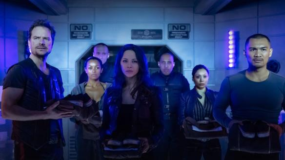 The crew of the Raza is inducted into prison in the season two opening