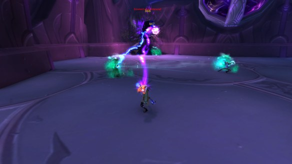 My warlock experiments with the new affliction in a Timewalking dungeon in World of Warcraft