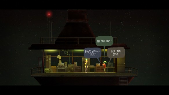 Dialogue options in Oxenfree