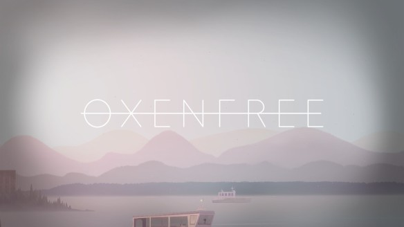 The title sequence in Oxenfree