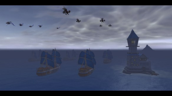 The Alliance sails for the Broken Shore in World of Warcraft