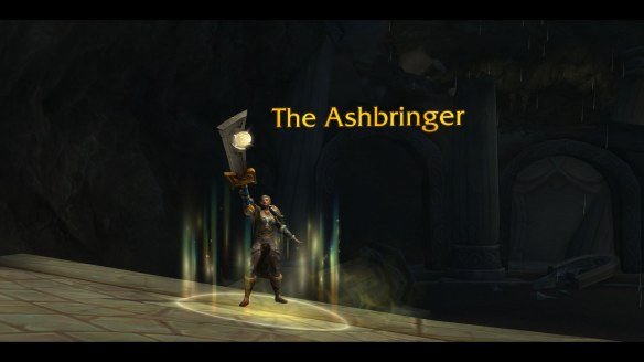 My paladin takes up the Ashbringer in World of Warcraft: Legion