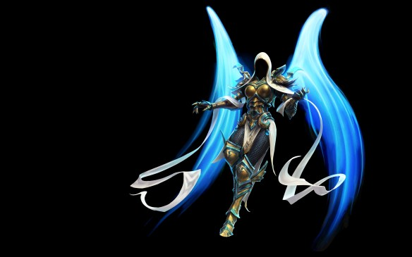 Heroes of the Storm's concept art for Auriel, Archangel of Hope