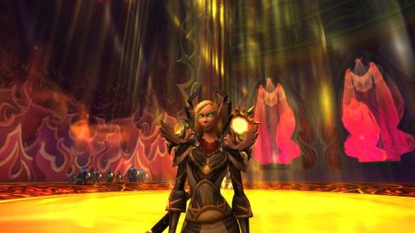 My Blood Elf priest in World of Warcraft: Legion