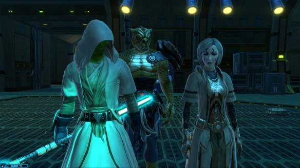 My consular with Nadia Greel and Qyzen Fess in Star Wars: The Old Republic