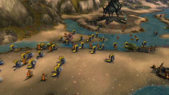 The armies of the Naga in Azsuna in World of Warcraft: Legion