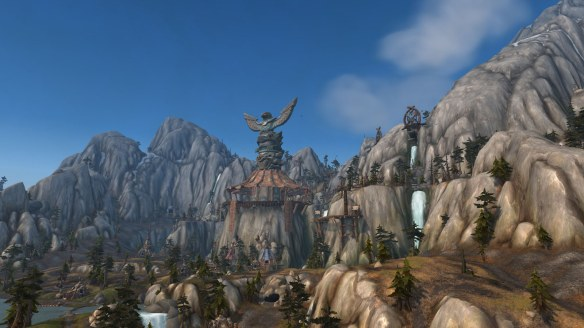 The new Highmountain zone in World of Warcraft: Legion