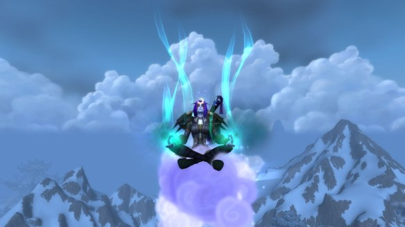 My monk meditating in World of Warcraft