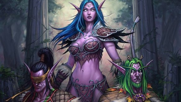 Art of Warcraft's Tyrande Whisperwind and the brothers Stormrage